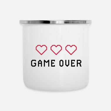 Game Over RETRO GAME OVER - Emaljmugg