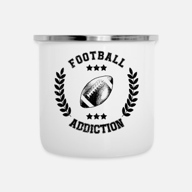 Balsport Football Addiction - Verslaving Balsporten USA - Emaille mok