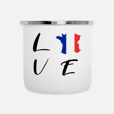 Writing FRANKRIKE FRANCE LOVE FOOTBALL WRITING GIFT - Emaljmugg