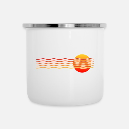 Gift Idea Mugs & Drinkware - Sunset summer holiday gift - Enamel Mug white
