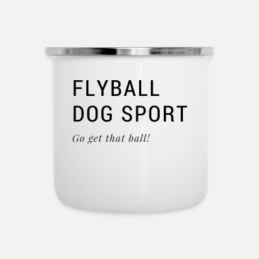Sports Flyball Dog Sports - Tazza smaltata