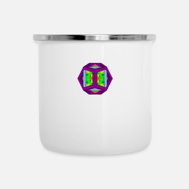 Platonic Solids THE 5 PLATONIC SOLIDS - Enamel Mug