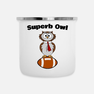 Champ superba Owl - Tazza smaltata