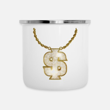 Ketting Oldschool Gold Rapper Dollar Ketting - Emaille mok
