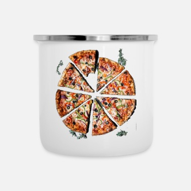 Pizza Fast Food Italian Pizza Pizzeria - Enamel Mug