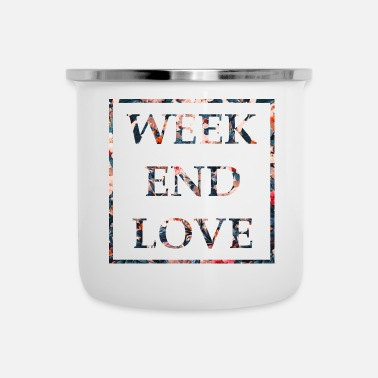 Weekend weekend d'amore - Tazza smaltata