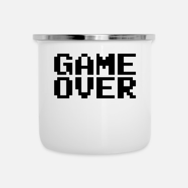 Game Over retro pixel - Enamel Mug