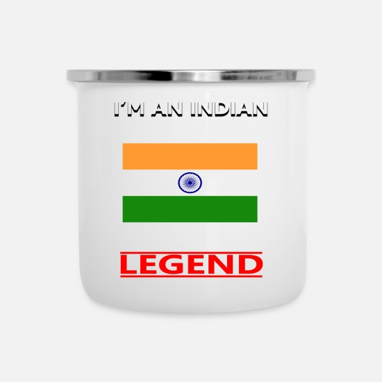 India Mugs & Drinkware - india - Enamel Mug white