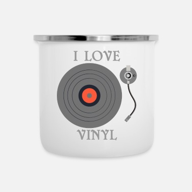 Turntable Vinyl, Vinyl Record, Turntable, DJ, Musik, Cool - Emaljmugg