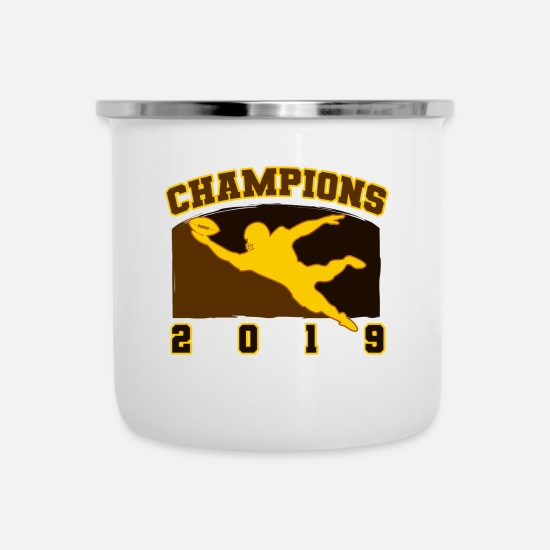 American Football Mugs & Drinkware - American Football Champions 2019 quarterback team - Enamel Mug white