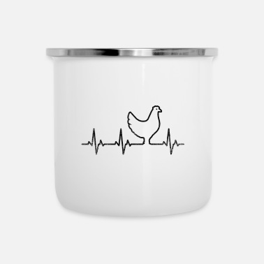 Snavel Chicken Heartbeat Funny Chicken Shirt - Emaille mok