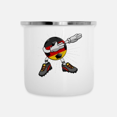 Soccer Ball Soccer Germany Soccer Dabbing Ball Dab Cool - Emaille mok