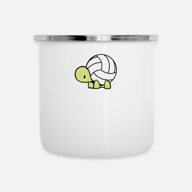 Volley Voleibol Tortuga Volley Ball Reptile Gift - Taza esmaltada