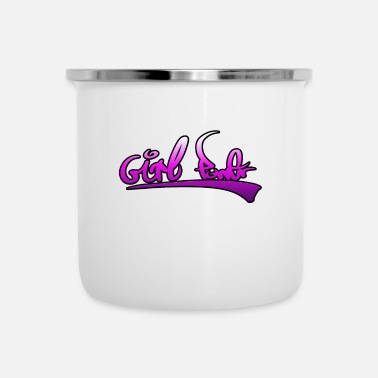 Girlie girl power girl - Tasse émaillée