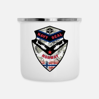 Navy Navy Seal Norway / Army Army Military Gift - Tasse émaillée