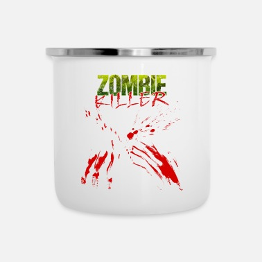 Splatter Regalo dello splatter di sangue di Halloween zombie - Tazza smaltata
