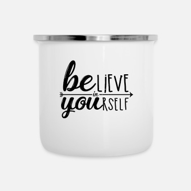 Typografie Motivation Typografie - Emaille-Tasse