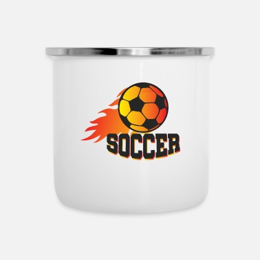 Soccer Ball Blazing Soccer Ball - Football League Gift Idea - Emaille mok