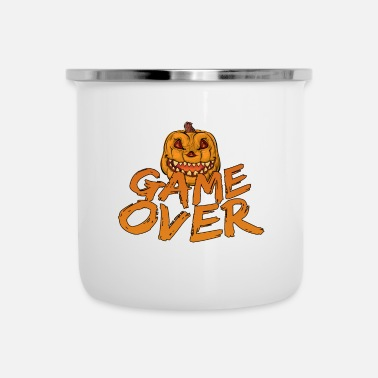 Game Over Game Over Gaming Halloween - Taza esmaltada