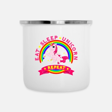Cult Eat Sleep Unicorn Repeat Cult Gift - Emaille mok