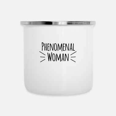 Powerslogan Phenomenal woman power woman saying - Enamel Mug