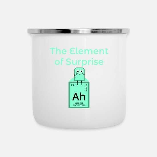 Chemistry Mugs & Drinkware - Element Surprise Ah Surprise saying icon - Enamel Mug white