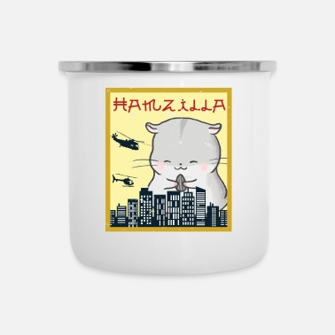 Lustige Funny Hamster T-Shirt Hamzilla- Cute Gift - Emaille-Tasse