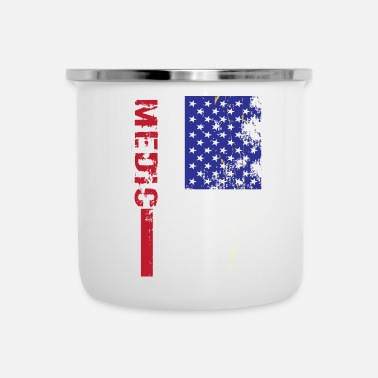 Us Medic Us Flag - Tazza smaltata