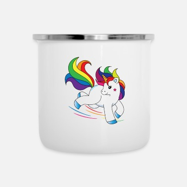 Galoppo Felice unicorno galoppa - Tazza smaltata