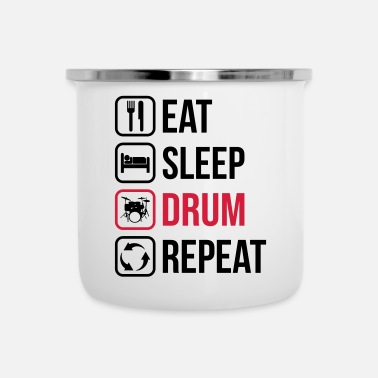 Speck Eat Sleep Drum Repeat - Tazza smaltata