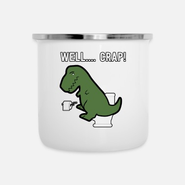 Toilette Divertente Dino Design, T-Rex, Dinosauro, Regalo - Tazza smaltata