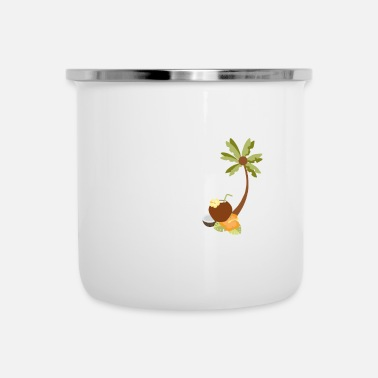 Caraibi Coconut Delicious holiday holiday palma regalo Caraibi - Tazza smaltata