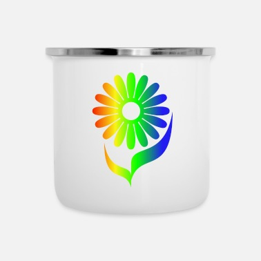 Explosion Rainbow Daisies - Color Explosions Design - Emaille mok