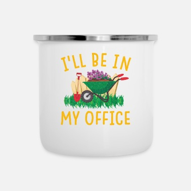 Fiore Giardino Gerdening Work Office Love Plants - Tazza smaltata