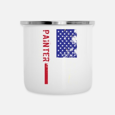 Us Pittore US FLag - Tazza smaltata