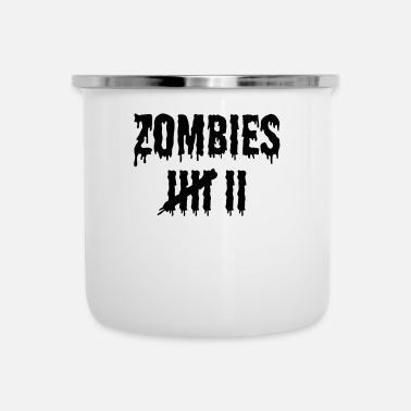 Conde Zombie Kill Count Scary Halloween Designs 2 Dark - Taza esmaltada