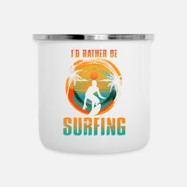 Vandsport ID RATHER BE Surfing Surfing Shirt Natursport - Emaljekrus