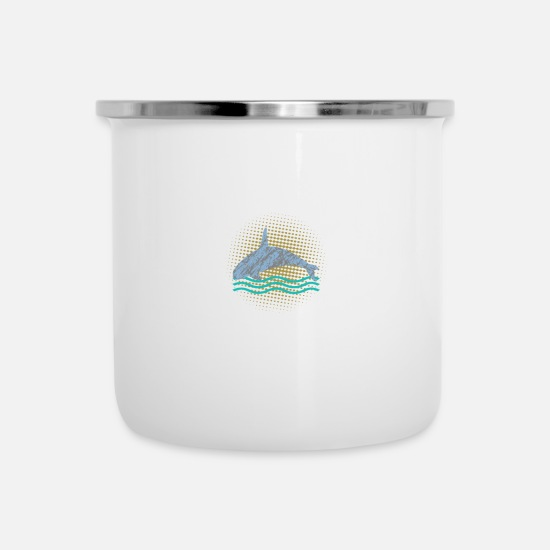Love Mugs & Drinkware - Whale saves the whales animals animal welfare gift - Enamel Mug white