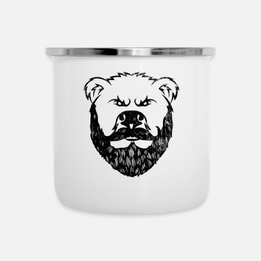 Snor Bear With Beard Beard Grizzly Black Bear Gift - Emaille mok