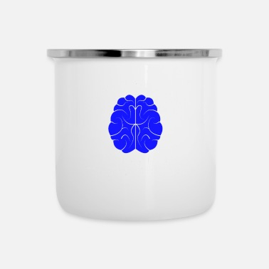 Bday Brain Brain Funny Nerd Tabs Browser Developer - Tazza smaltata