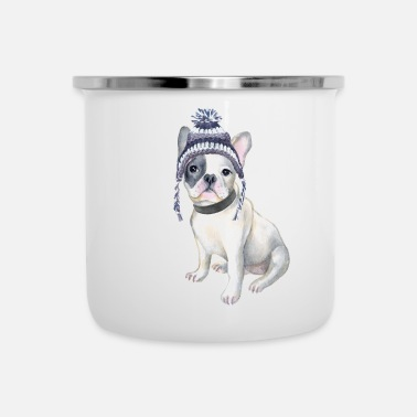 Bulldog Cani Frenchie French Bulldog Toque Beanie COLLAR - Tazza smaltata