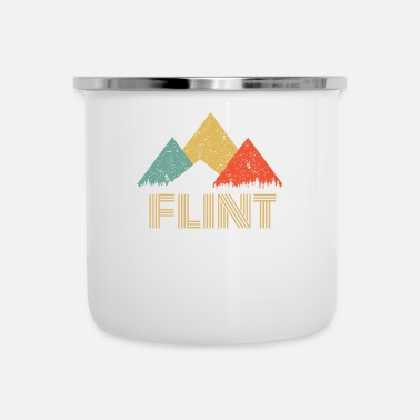 Flint Retro City of Flint Mountain Shirt - Enamel Mug