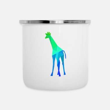 Safari Giraffe Africa Polygon Colorful Safari - Tazza smaltata