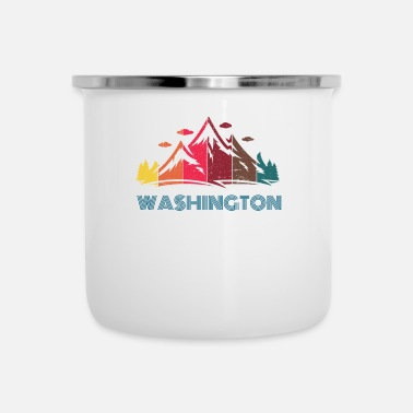 Retrò Retro Mountain Washington Design per uomo donna - Tazza smaltata