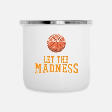 College Laat The Madness Begin College Basketball - Emaille mok