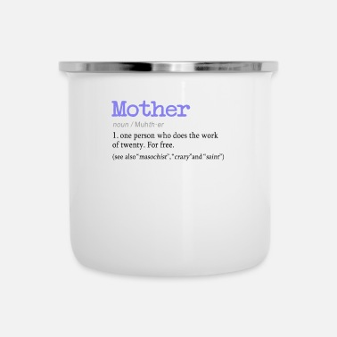 Hilarious Hilarious Mother definition design för moms - Emaljmugg