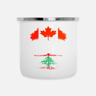 Country Canadian Grown With Lebanese Roots - Enamel Mug