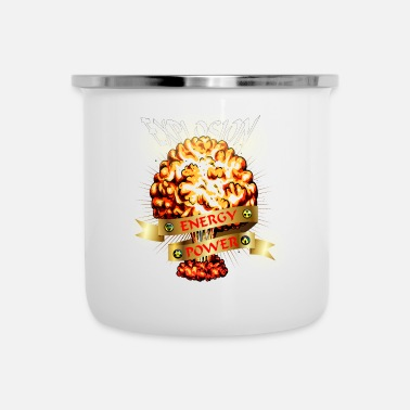 Nuclear Atomic explosion - mushroom cloud - atomic energy - Enamel Mug