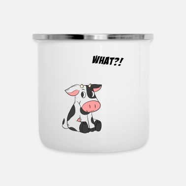Dairy Cow WHAT? - COW - Enamel Mug
