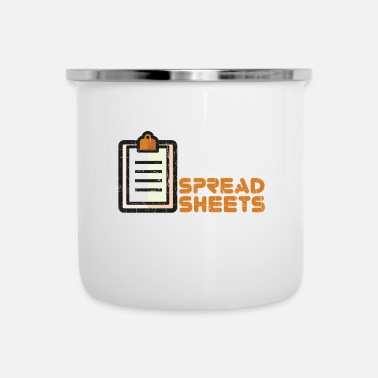 I Love Easily Distracted By Spreadsheet - Emaille-Tasse